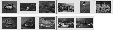Waterdrop brushes preview