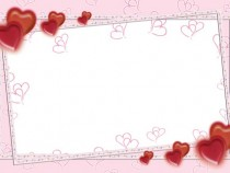 Pink Feelings in Valentine's Day photo frame