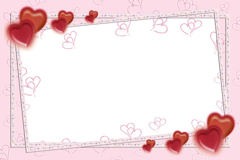 Free Photoshop frame with Pink Feelings in blessed Valentine\'s Day ...
