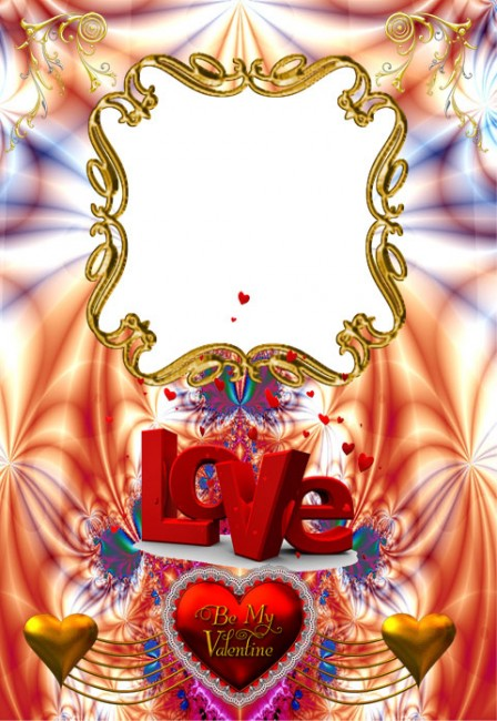 Frame for loving hearts for Valentine's Day