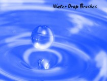 Waterdrop Brushes for Photoshop