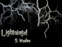 Lightnings Photoshop Brushes