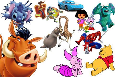 Favourite cartoon heroes