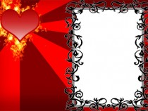 Romantic heart frame