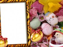 Easter photo frame