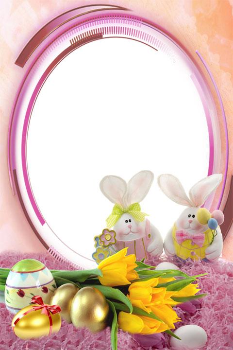 Easter fun photo frame