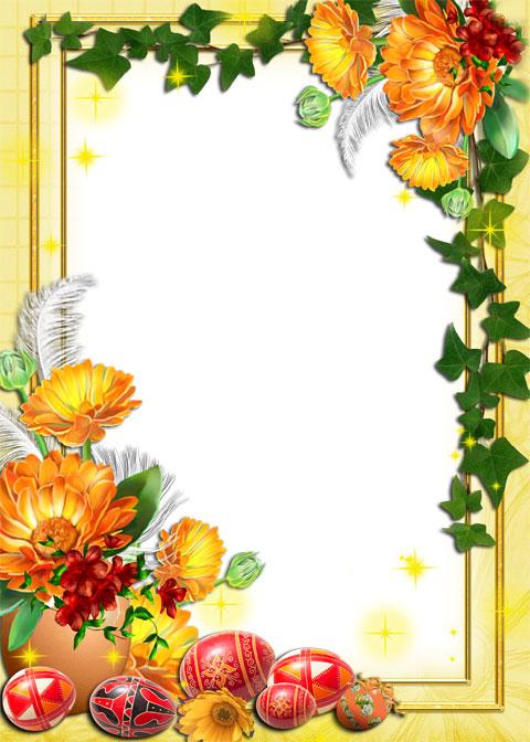 Easter festive photo frame
