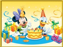 Birthday with Minnie Mouse photo frame