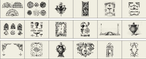 Architectural ornamentation brushes preview