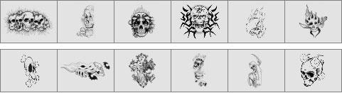 Skull brushes preview