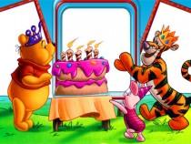 Pooh's Birthday photo frame