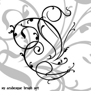 Arabesque brushes for Photoshop