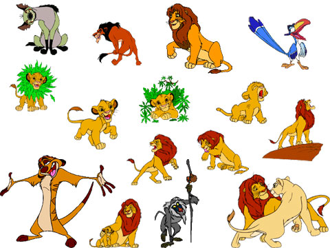 The Lion King cartoon heroes