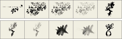 Floral painting brushes preview