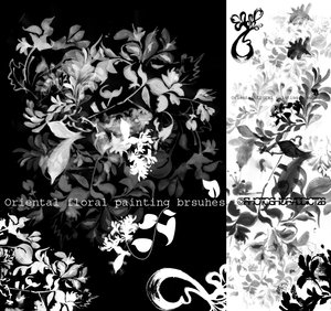 Floral painting brushes