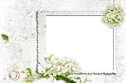 Happy married life photo frame