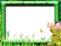 Dwarf Happy photo frame