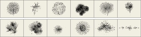 Fireworks brushes preview