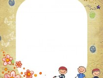Happy Childhood photo frame