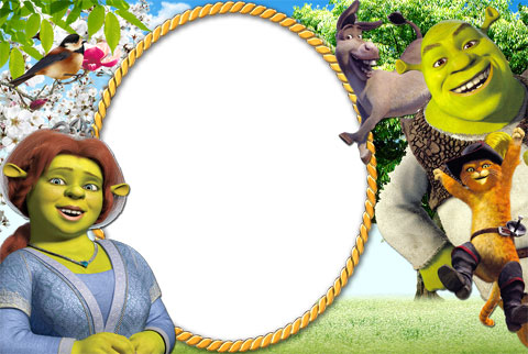 Shrek Forever photo frame