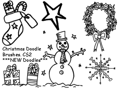 Christmas doodle brushes