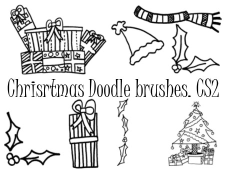 Christmas doodle brushes 2