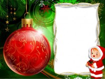 Christmas glass bauble photo frame