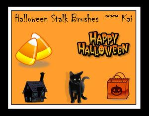Halloween stalk brushes