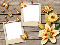 Bright moments photo frame
