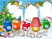 New Year with M&M photo frame