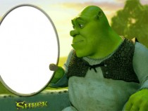 Shrek photo frame