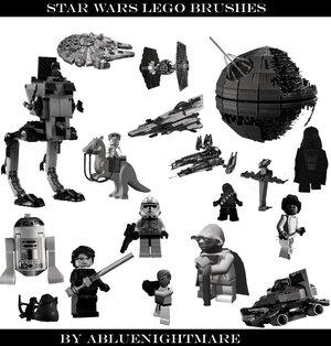 Star wars lego brushes