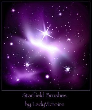 Starfield brushes