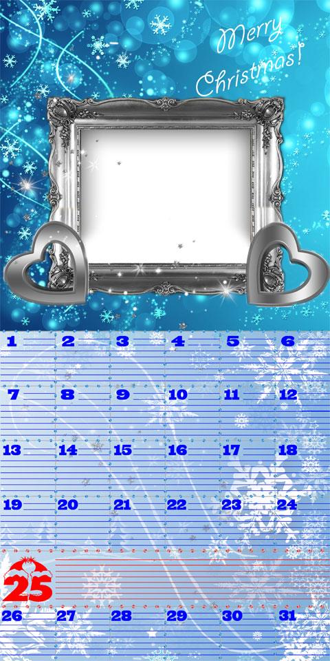 Christmas diary calendar and photo frame