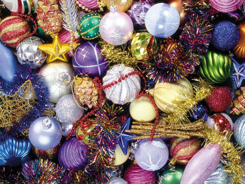 Christmas ornaments wallpaper