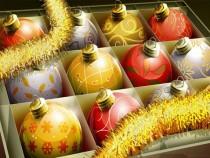 Colorful Christmas balls