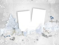 Hello winter photo frame