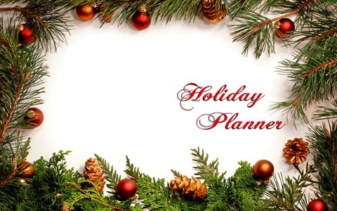 Holiday planner wallpaper