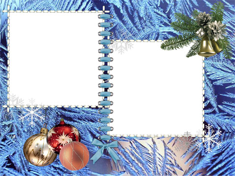 Icy christmas photo frame