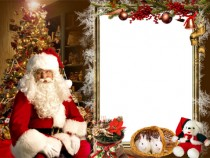 Jolly Santa photo frame