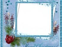 Glittering stars photo frame
