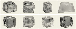 Ice cubes brushes preview