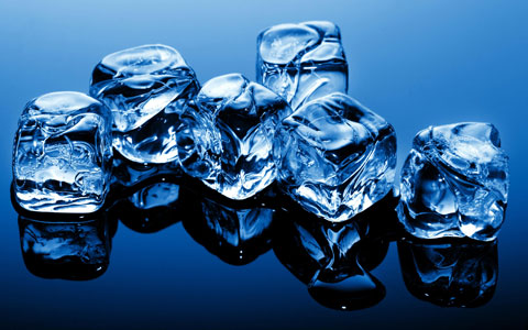 Ice cubes brushes