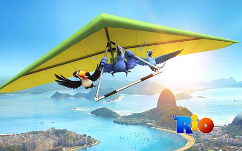 Rio - Flying Blu wallpaper