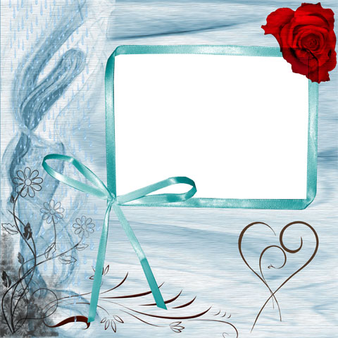 Lace photo frame