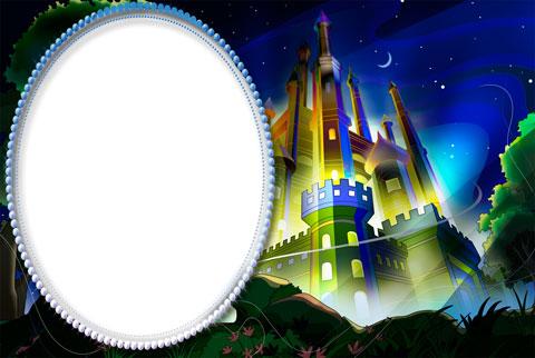 Little king's castle photo frame