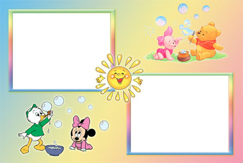 Winnie and Minnie photo frame