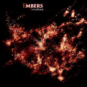 Embers brushes for Photoshop