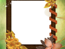 Fall's coloring book photo frame