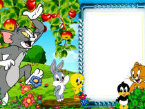 Tom and Jerry photo frame